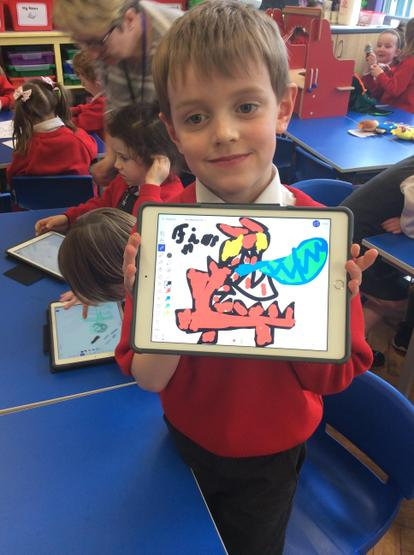 Amazing dragons on the ipads