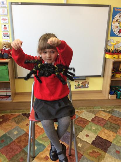 Martha showed us her big hairy spider