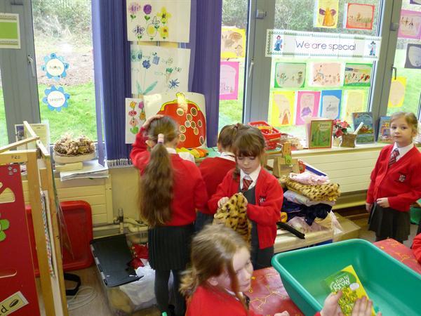 Setting up our Garden Centre Shop.