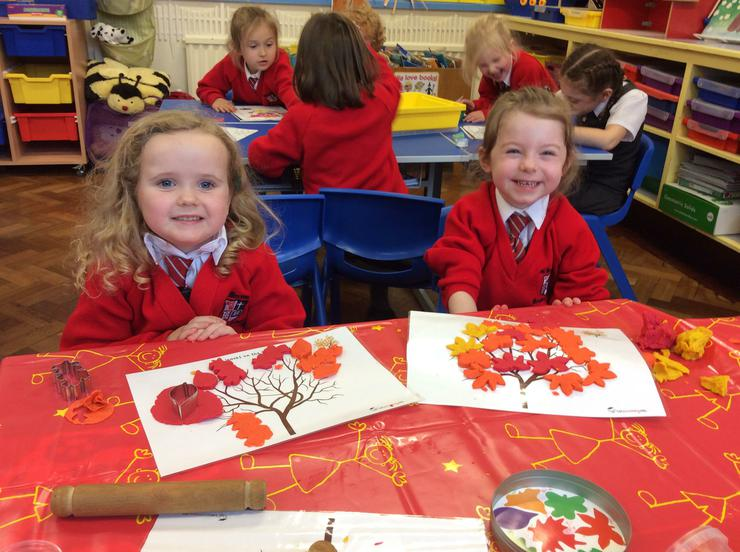 very proud of their play doh autumn leaves