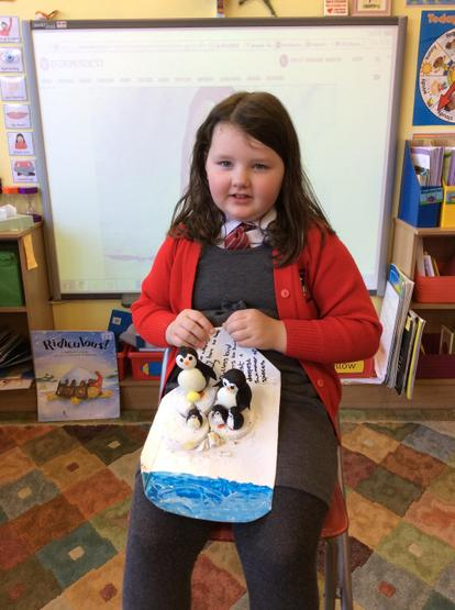 What an amazing penguin art project!