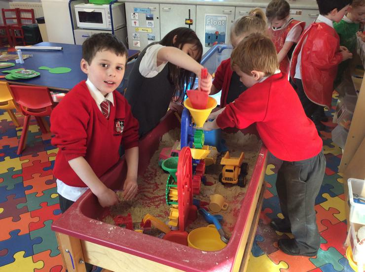 Making fairytale castles in the wet sand