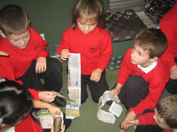 Using recycled newspaper