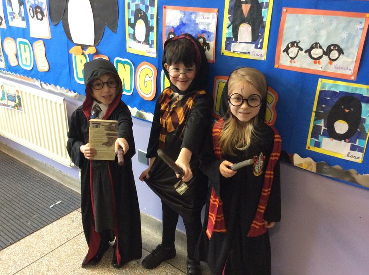 Three magical Harry Potter's