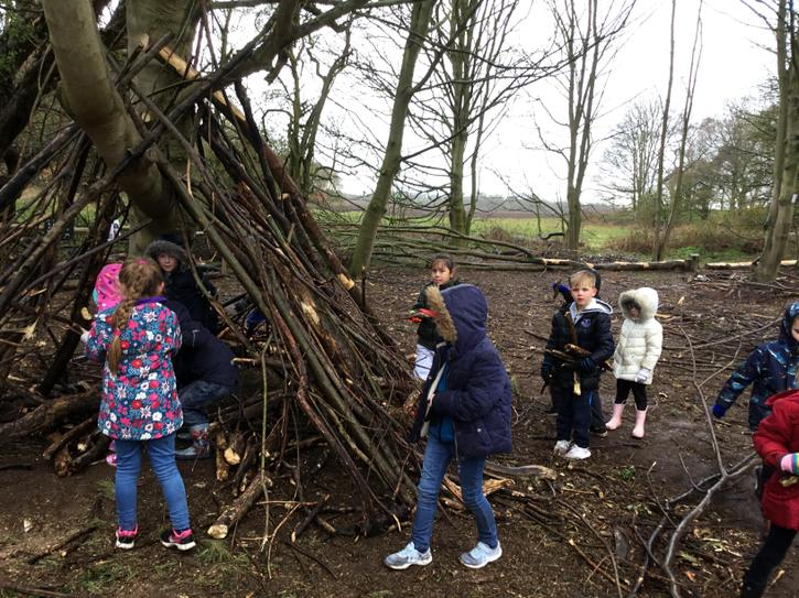 Building a shelter for The Merry Men
