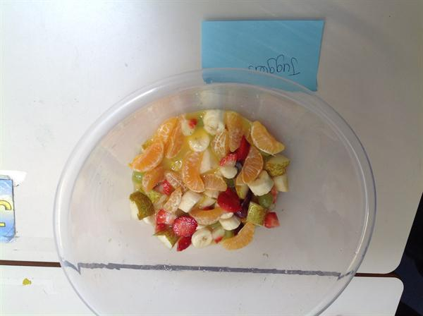 Making a fruit salad