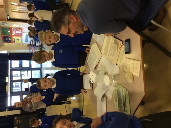 careers day, finding all about Rev Mark's job.
