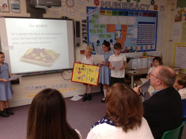 Year 4's business was healthy fruit snacks