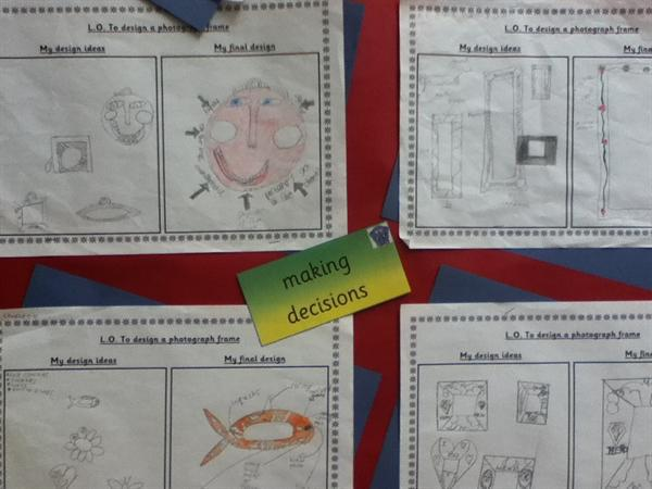 Year 3 made decisions when designing photo frames