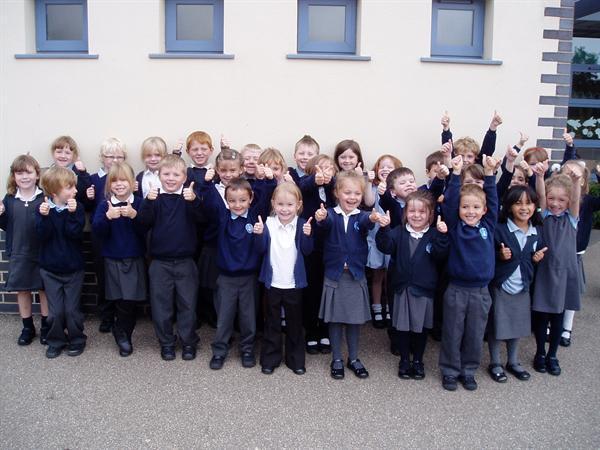 "Miss Harris' class say ""cheese!"