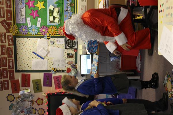 We had great fun when Santa came to visit!