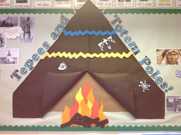 Our topic this term is Tepees and Totem Poles!