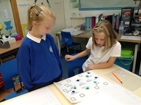 Playing games to learn about place value