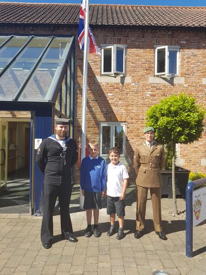 Armed Forces Day Flag Raising Ceremony in Sleaford