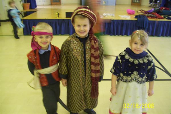 We dressed up as Indian princes and princesses.