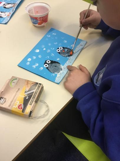 Making our Christmas cards!