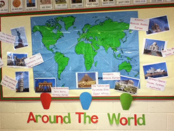 Around the World is our topic for Autumn term 2.