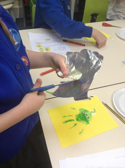 Following instructions to make Alien Handprints