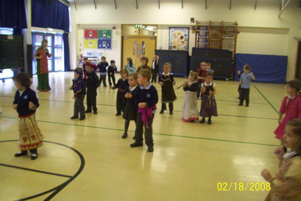 We did lots of traditional Indian dancing.