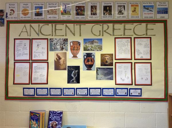 The topic for the spring term is Ancient Greece