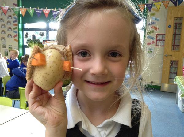 Our Harvest potato self-portraits!