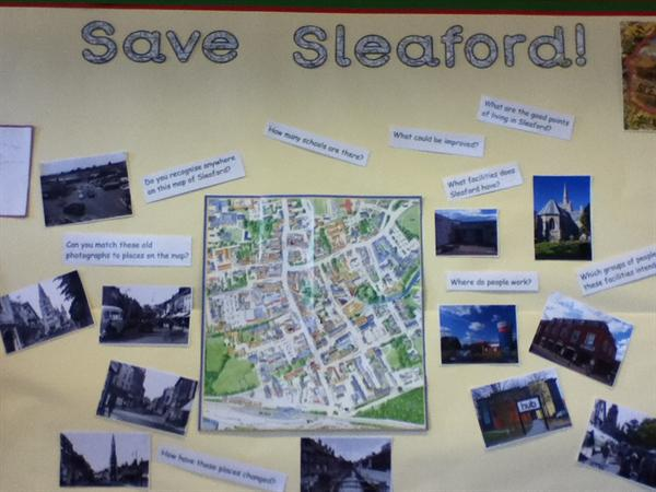Save Sleaford is our topic for Spring Term 2