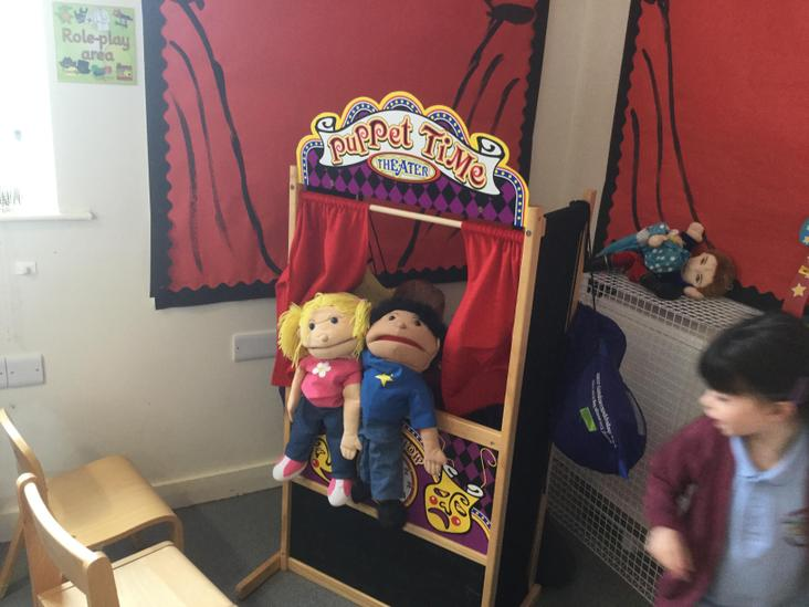 A puppet show going on in the Theatre