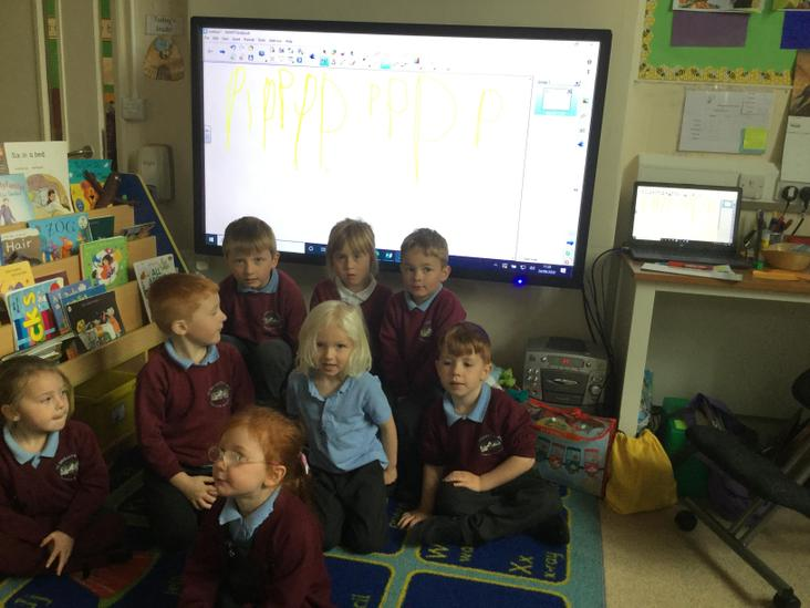 Using the smart board for letter formation