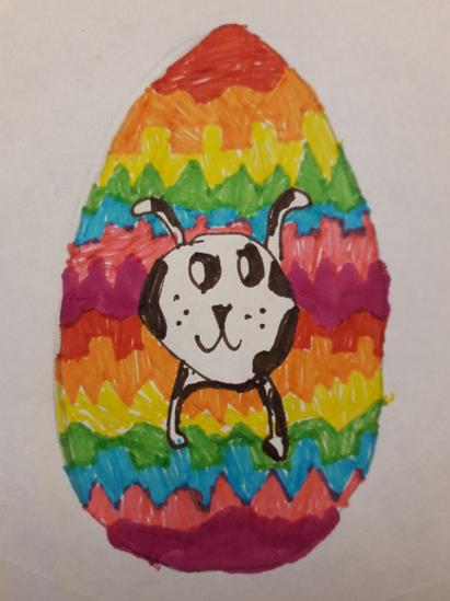 Adara's Egg design with rainbow pattern of Hope
