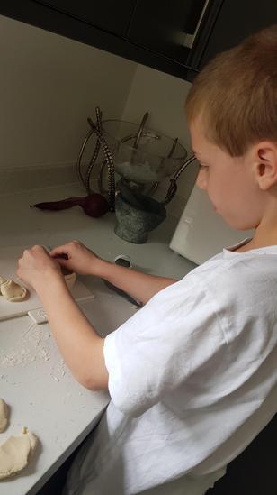 Ross's salt dough Greek pot