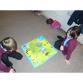 We used a map with a grid to program the Beebot.