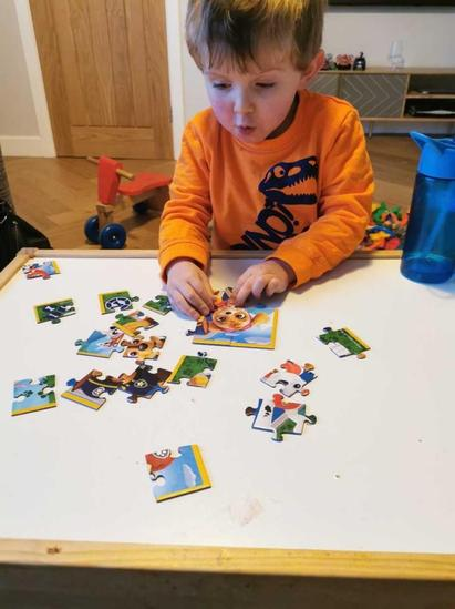 Frankie completing his Paw Patrol puzzles - all independently too.
