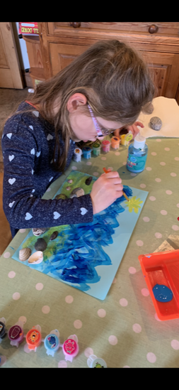 Zoe hard at work!- An Artist in the making?