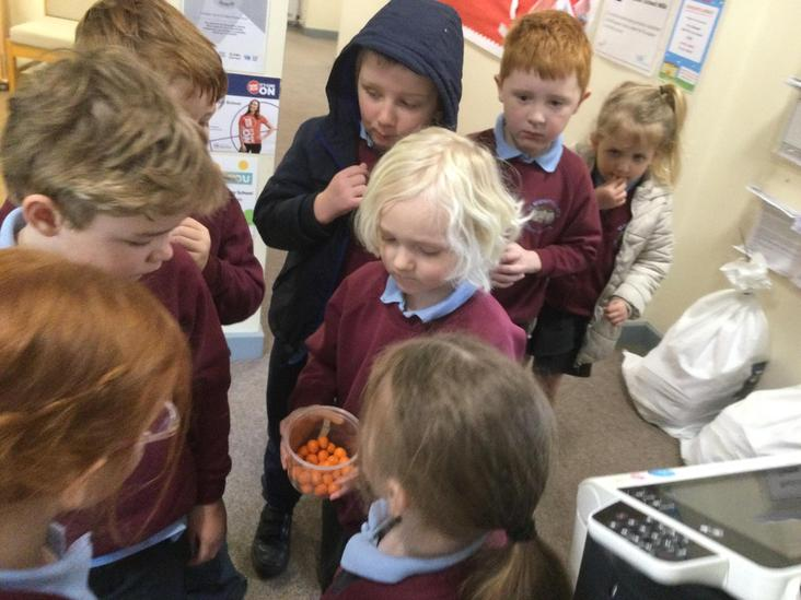 We followed the clues, completed our exercise before munching on a treat.