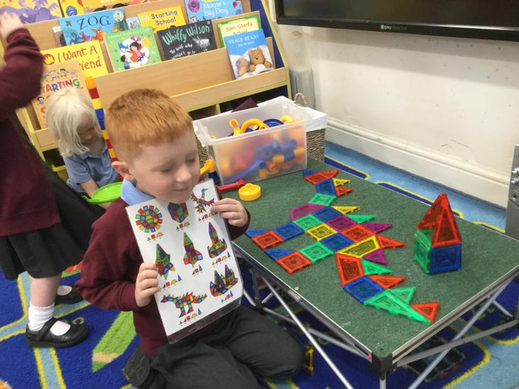Creating with magnetic shapes