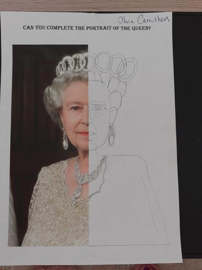 Olivia's portrait of the Queen