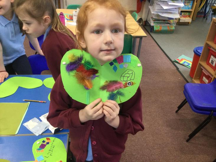 Green hearts to encourage to look after our world