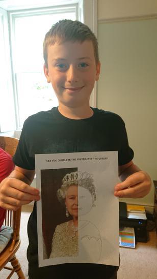 Leon's portrait of the Queen