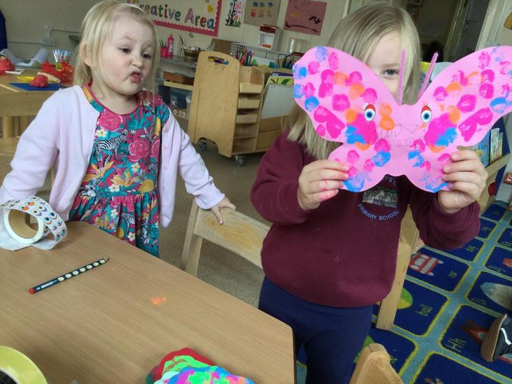 Creating symmetrical butterflies
