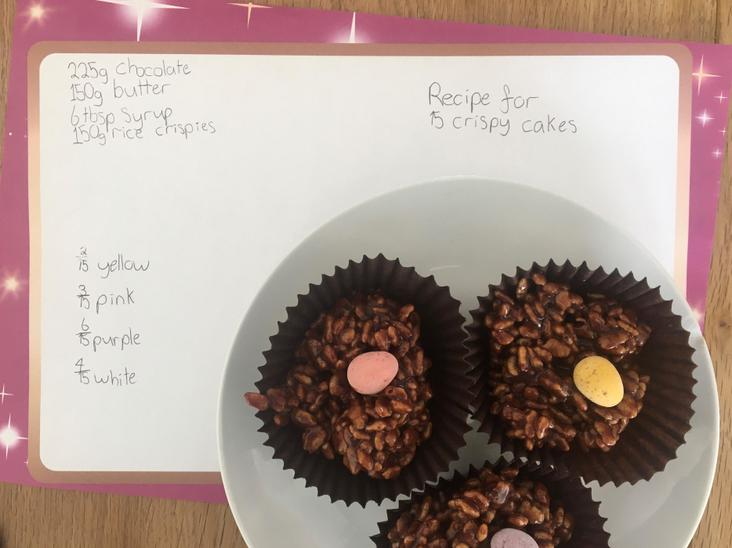 Maddy's 'Maths Crispy Cakes'