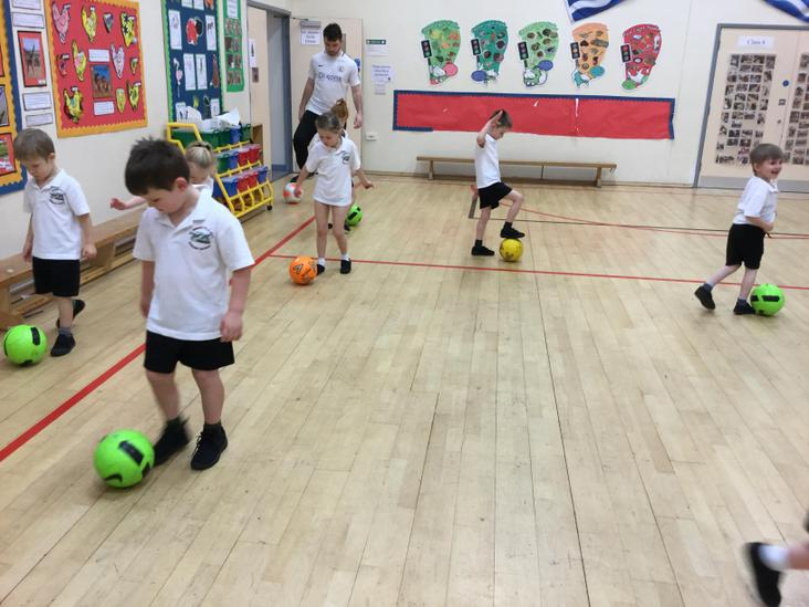 Ball control - small touches.