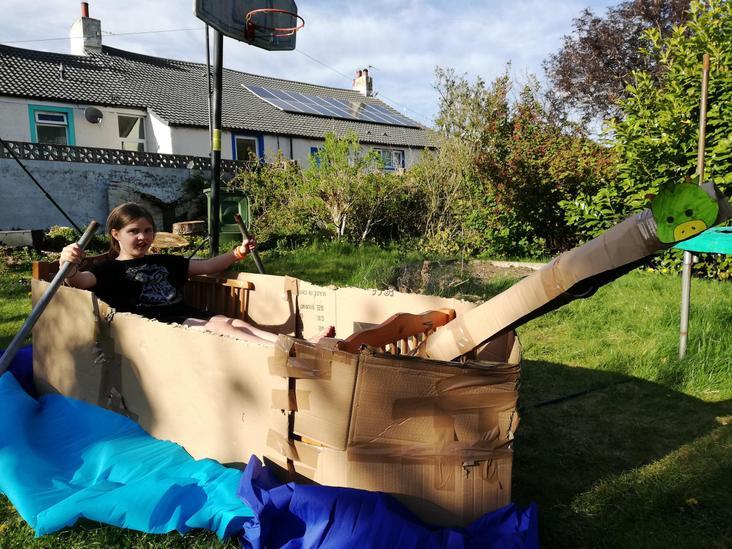 Willow's Viking Long Boat