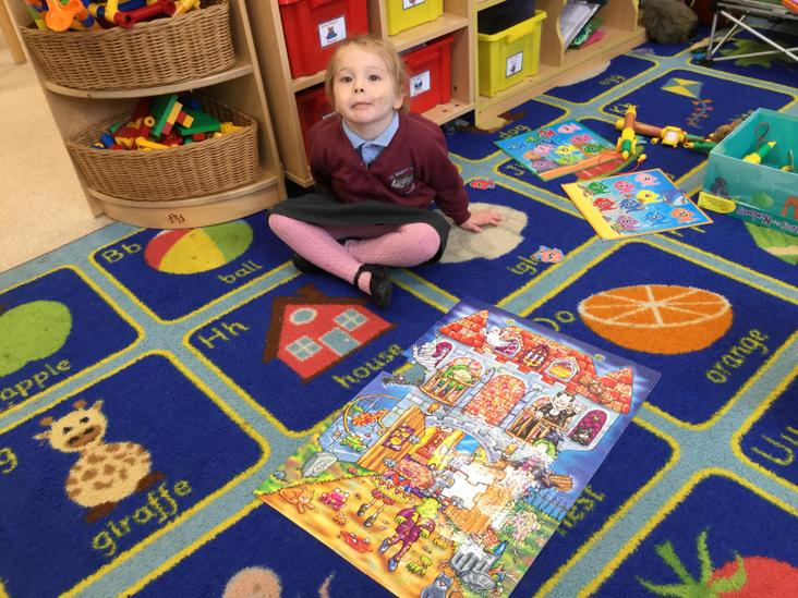 Perseverance while completing a tricky floor puzzle