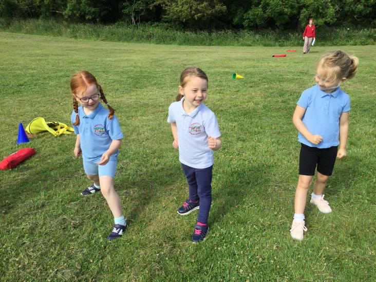 Sports Day - prepping for girls long distance race