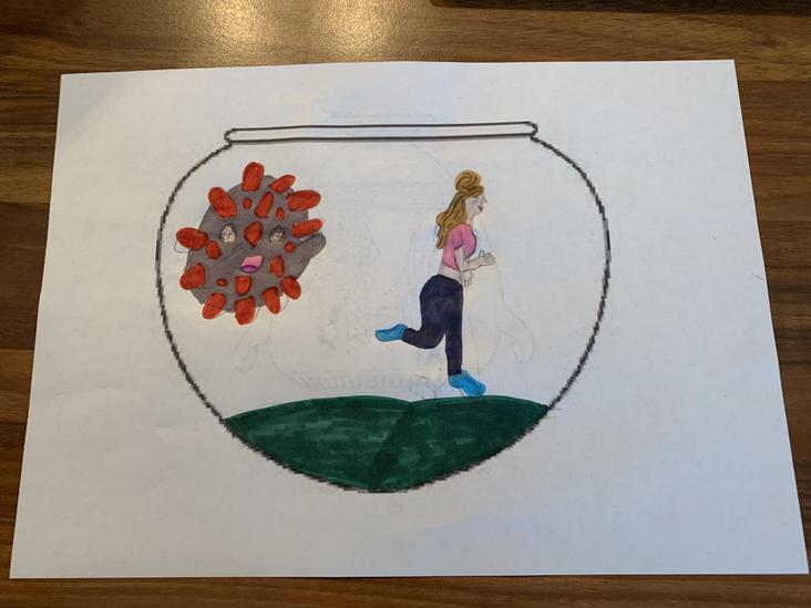Erin's design - escaping from Corona Virus