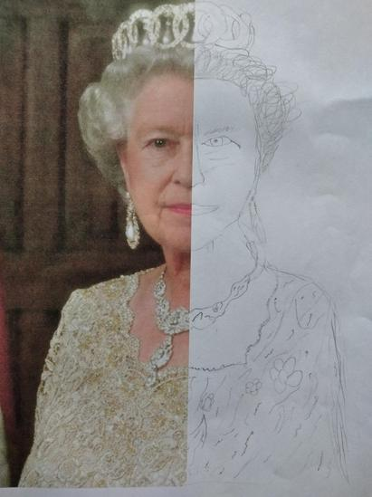 Seth's portrait of the Queen