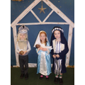 Our donkey, Mary and Joseph