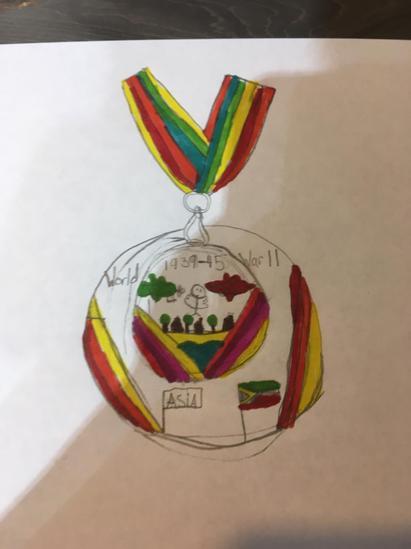 Evan's medal