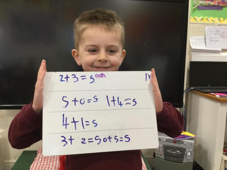 Number sentences - understanding the 5 ness of 5