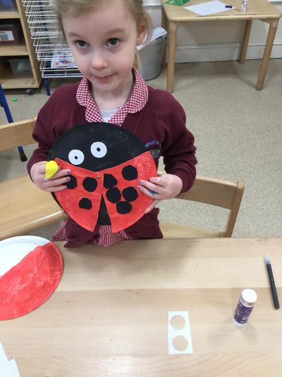 Partitioning within 10 by making a crafty ladybird